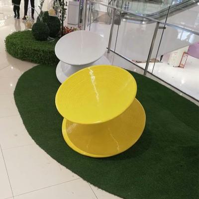 玻璃钢360度旋转陀螺椅