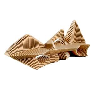 木质山水造型异形切片座椅