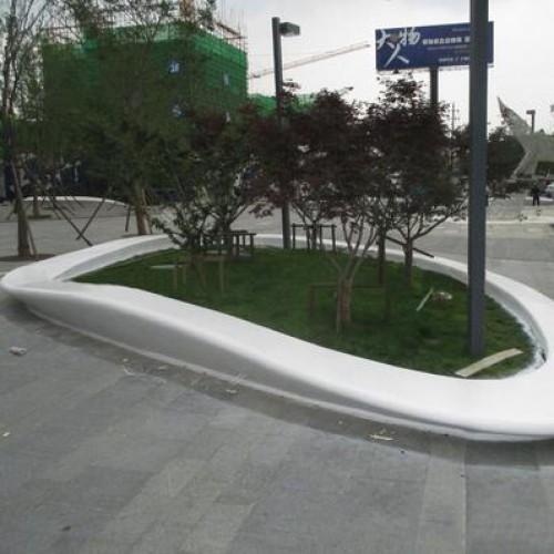 玻璃钢户外大型树池坐凳