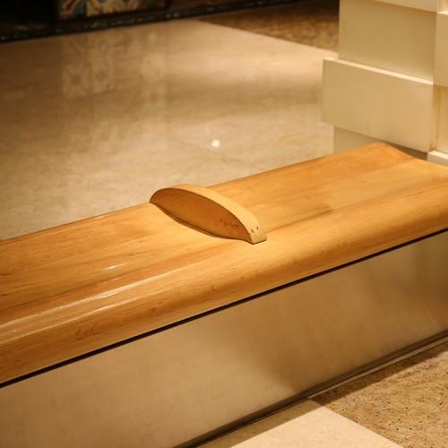 不锈钢木面座椅