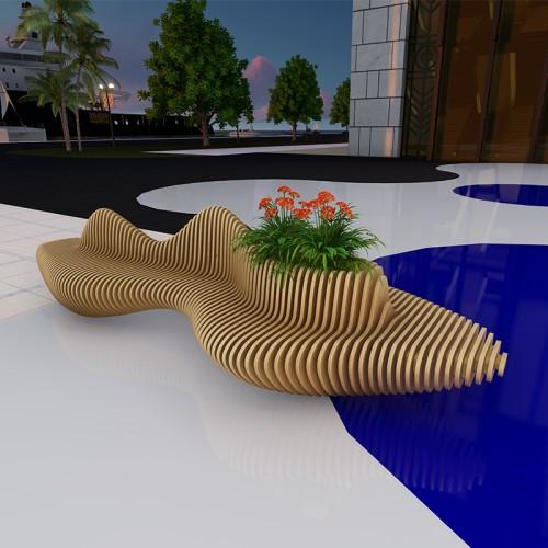 木艺切片座椅设计款