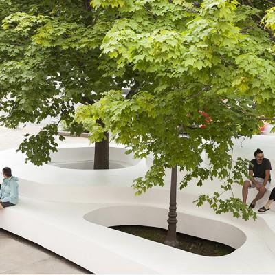 玻璃钢户外超大型树池