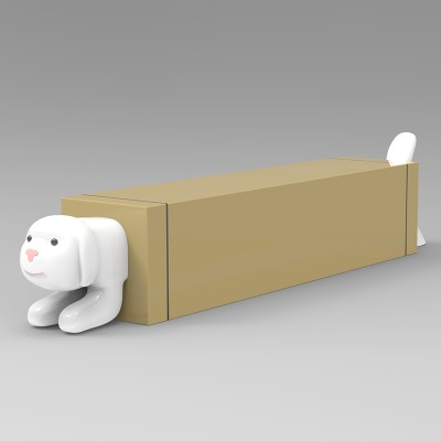 玻璃钢小狗坐凳