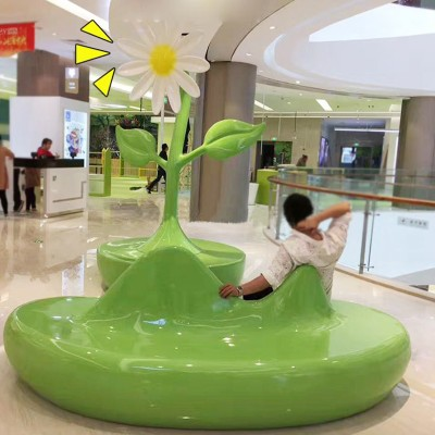 玻璃钢创意商场座椅