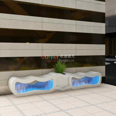 玻璃钢海浪座椅