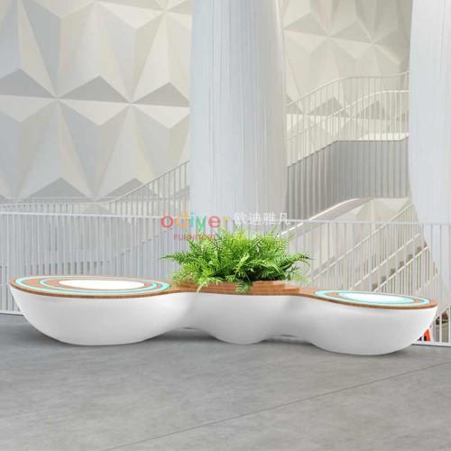 玻璃钢水波纹创意休闲椅