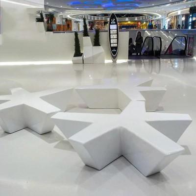 玻璃钢五角星创意座椅
