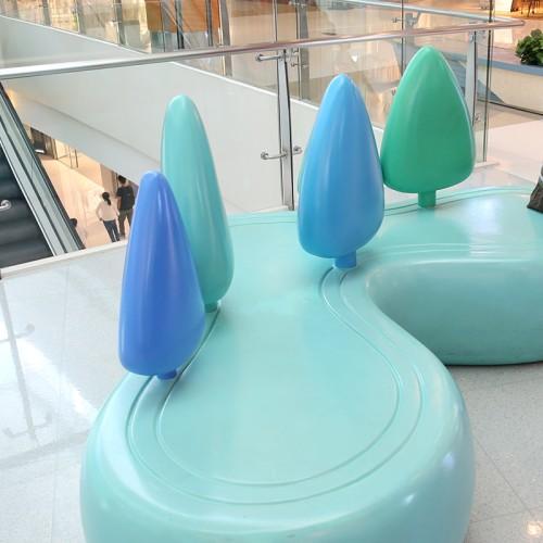 玻璃钢心形商场座椅