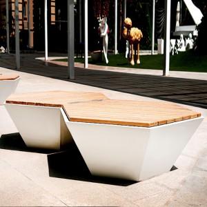 木艺+玻璃钢座椅