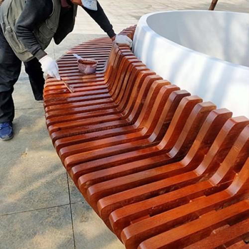 菠萝格木坐凳树池座椅