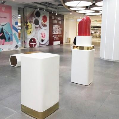 口红玻璃钢雕塑商业美陈广场景观摆件