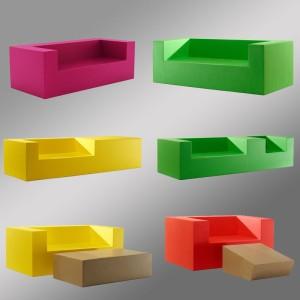 玻璃钢方形沙发休闲椅