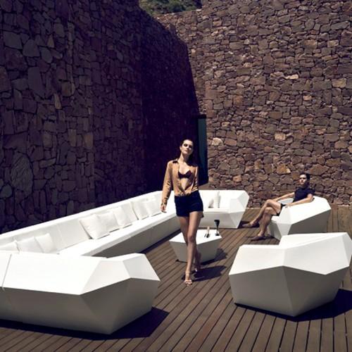 玻璃钢菱形沙发休闲椅