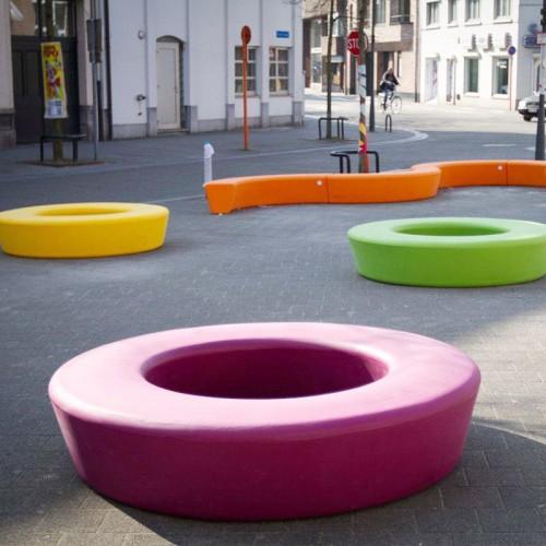 玻璃钢圆形环形坐凳