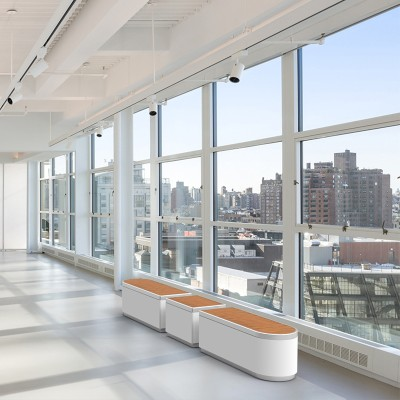 玻璃钢条形商场走廊坐凳组合