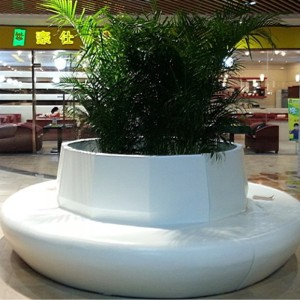 玻璃钢圆形花盆树池座椅