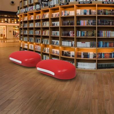 玻璃钢红豆商场美陈座椅