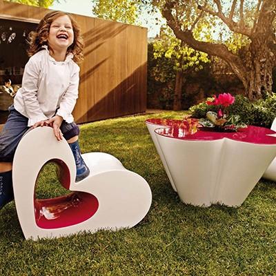 玻璃钢爱心创意休闲椅