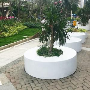 圆形玻璃钢户外树池坐凳