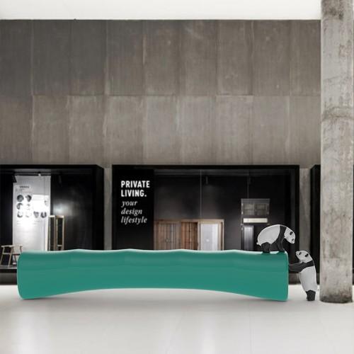 玻璃钢竹子与熊猫组合创意景观坐凳