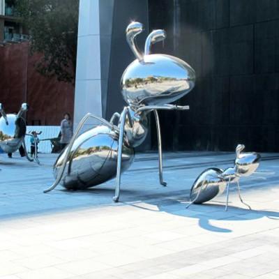 蚂蚁不锈钢雕塑景观广场公园雕塑