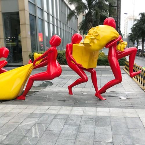 小偷人物玻璃钢雕塑户外景观广场公园雕塑