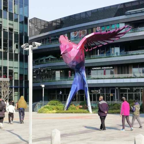 燕子不锈钢雕塑