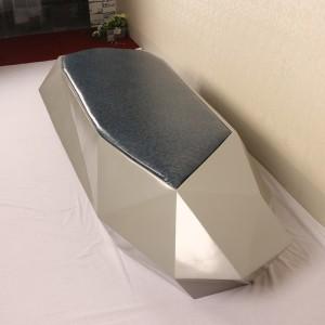 玻璃钢切面软包座椅