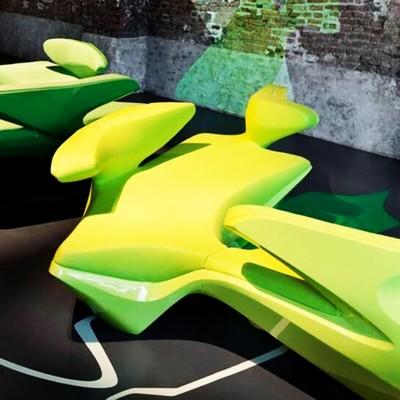 玻璃钢软包连体沙发