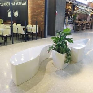 玻璃钢鱼形创意休闲椅