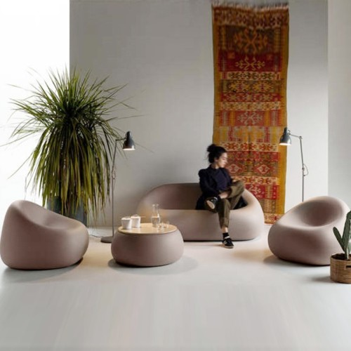 玻璃钢鹅卵石沙发休闲椅