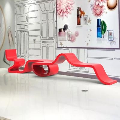 玻璃钢飘带长条坐凳
