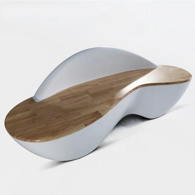 玻璃钢木面结合座椅