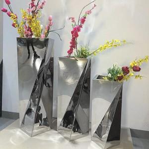 不锈钢不规则花盆