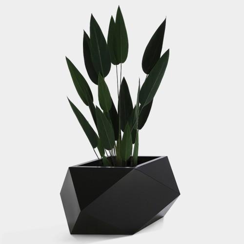不锈钢菱形花盆