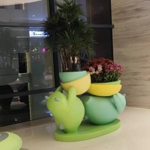 小熊系列玻璃钢美陈花盆