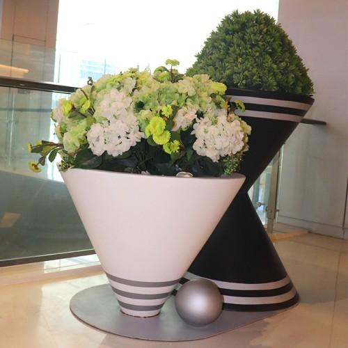 玻璃钢沙漏创意花盆
