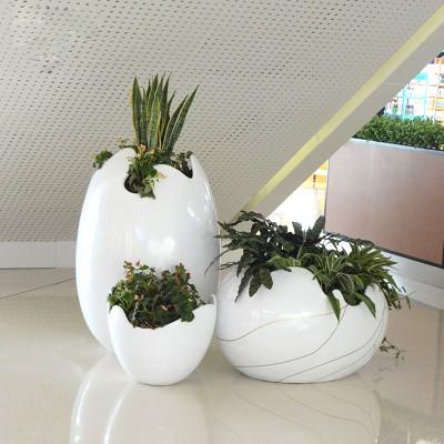 玻璃钢蛋壳花盆座椅