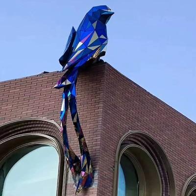 鸟不锈钢雕塑园林景观广场公园动物摆件