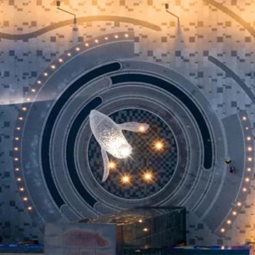 海豚不锈钢雕塑金属镂空铁艺景观广场雕塑