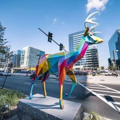 动物玻璃钢雕塑切面抽象大型景观广场雕塑