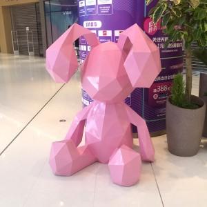 几何动物玻璃钢雕塑抽象商场动物雕塑