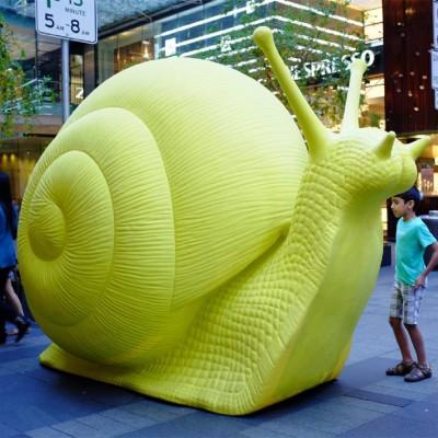 蜗牛玻璃钢雕塑公园广场动物景观雕塑