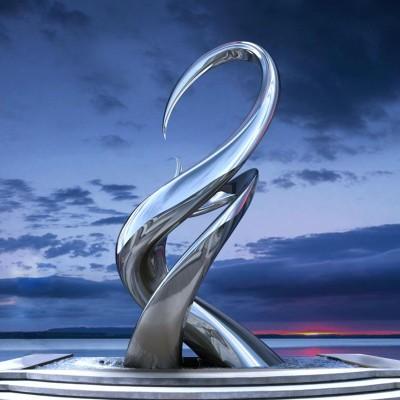 嫩芽不锈钢雕塑抽象景观广场艺术摆件
