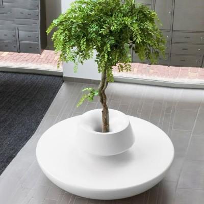 商场创意玻璃钢树池坐凳
