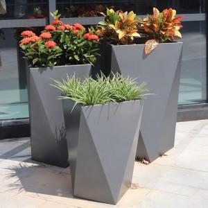 玻璃钢几何菱形花盆