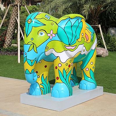 大象玻璃钢雕塑户外动物广场公园城市雕塑