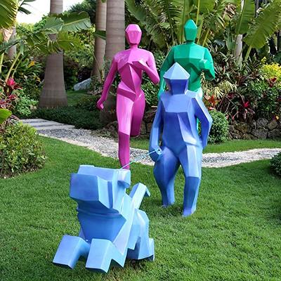 健身运动玻璃钢雕塑人物景观公园学校广场雕塑