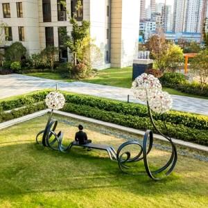 蒲公英不锈钢景观坐凳