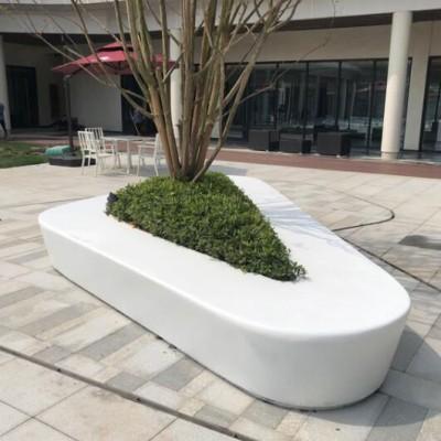 三角形异形玻璃钢树池坐凳